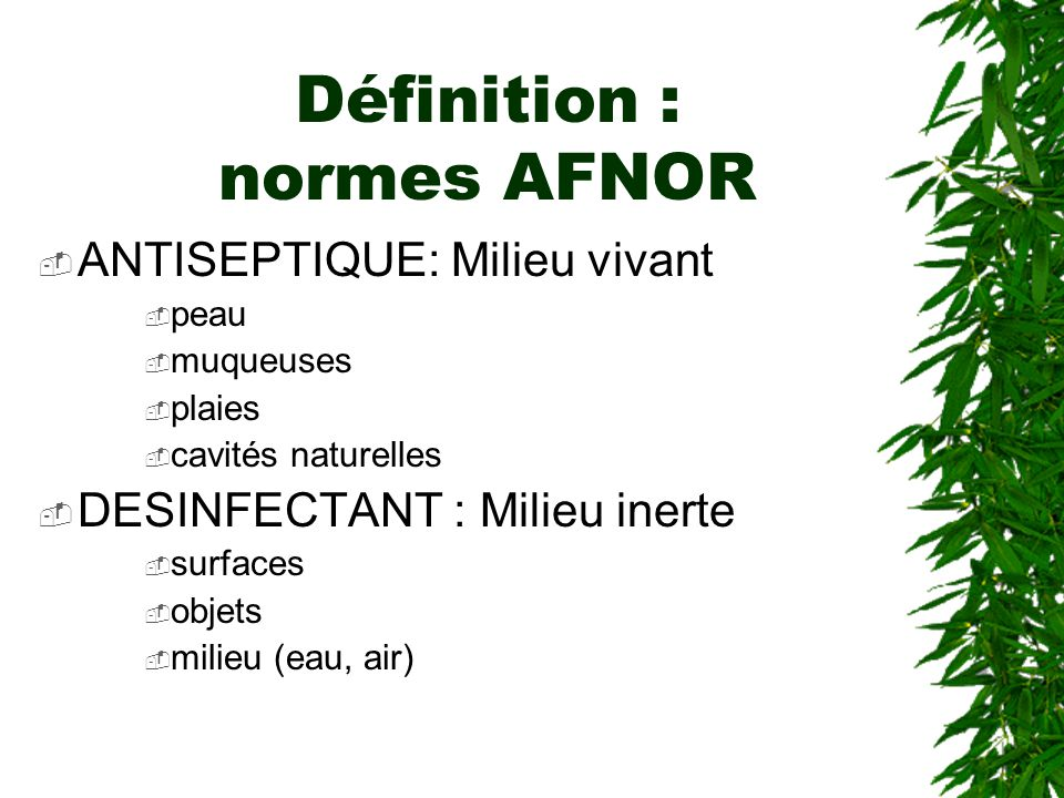 Définition : normes AFNOR