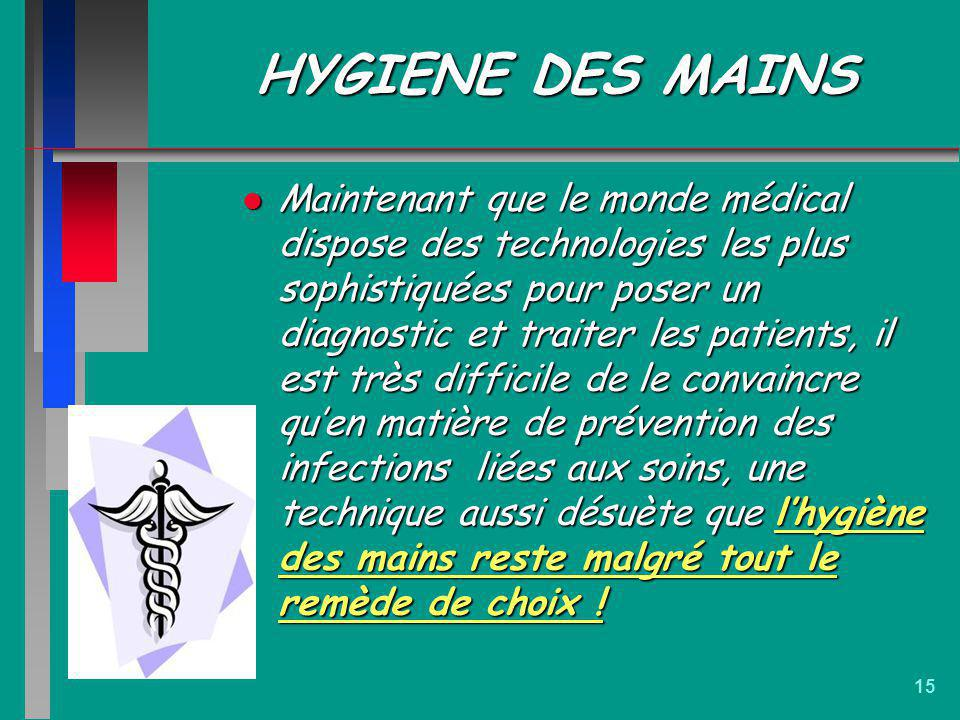 HYGIENE DES MAINS