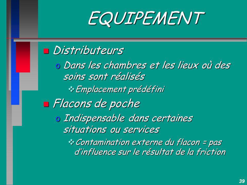 EQUIPEMENT Distributeurs Flacons de poche