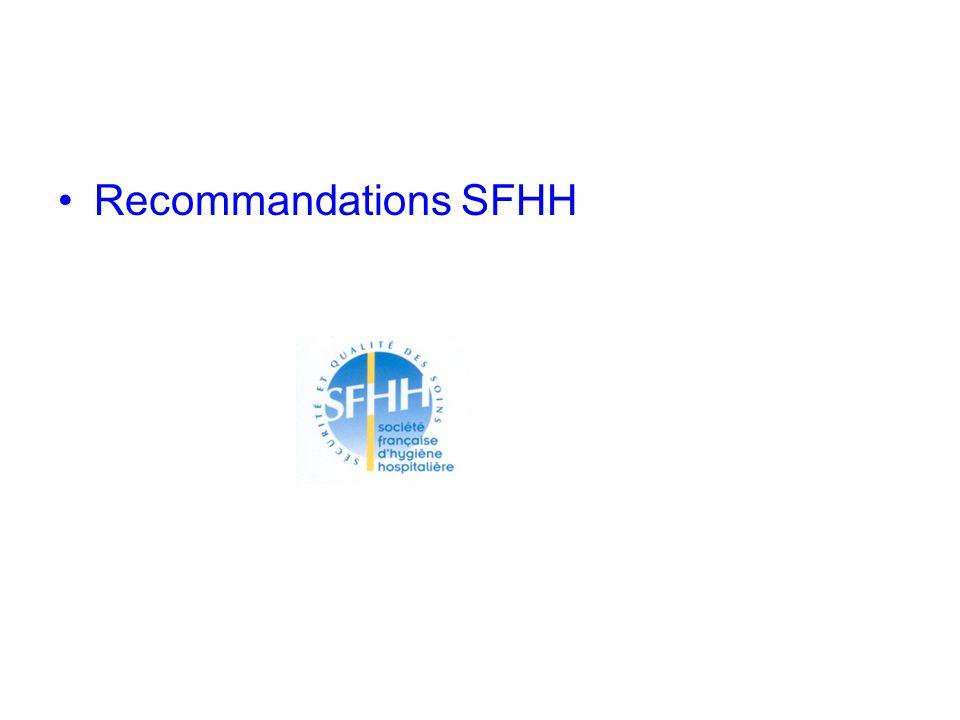 Recommandations SFHH