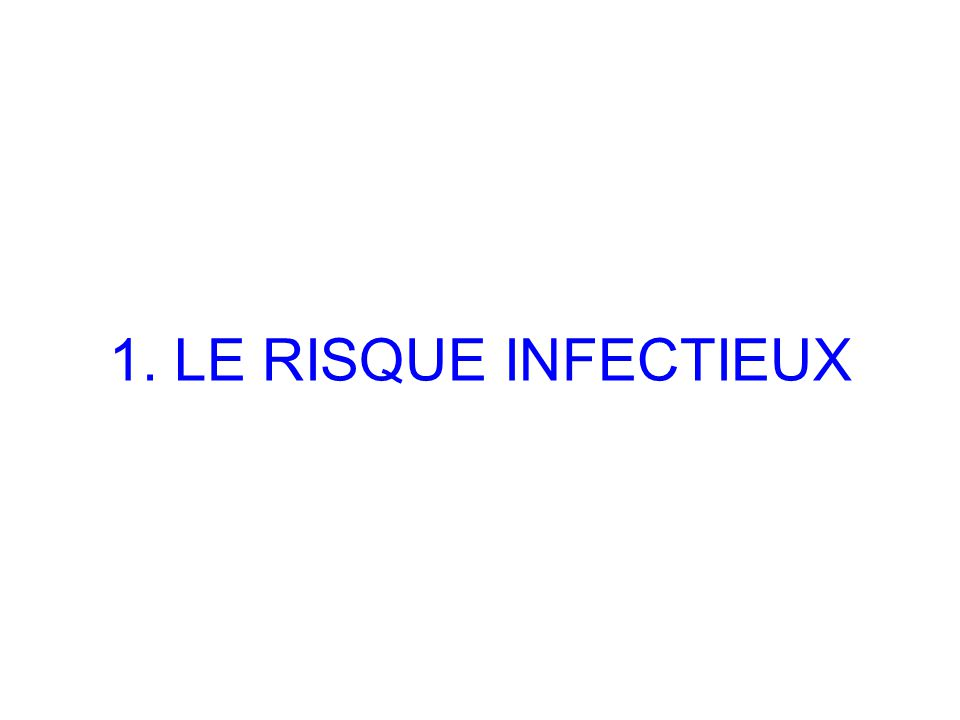 1. LE RISQUE INFECTIEUX