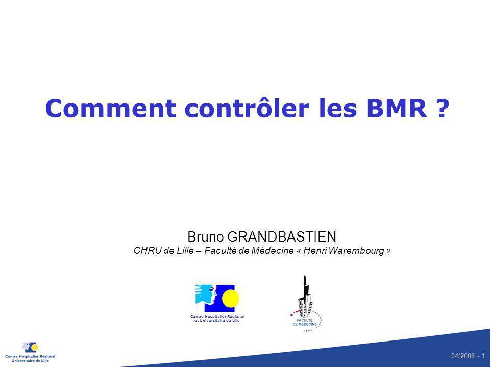 Comment contrôler les BMR