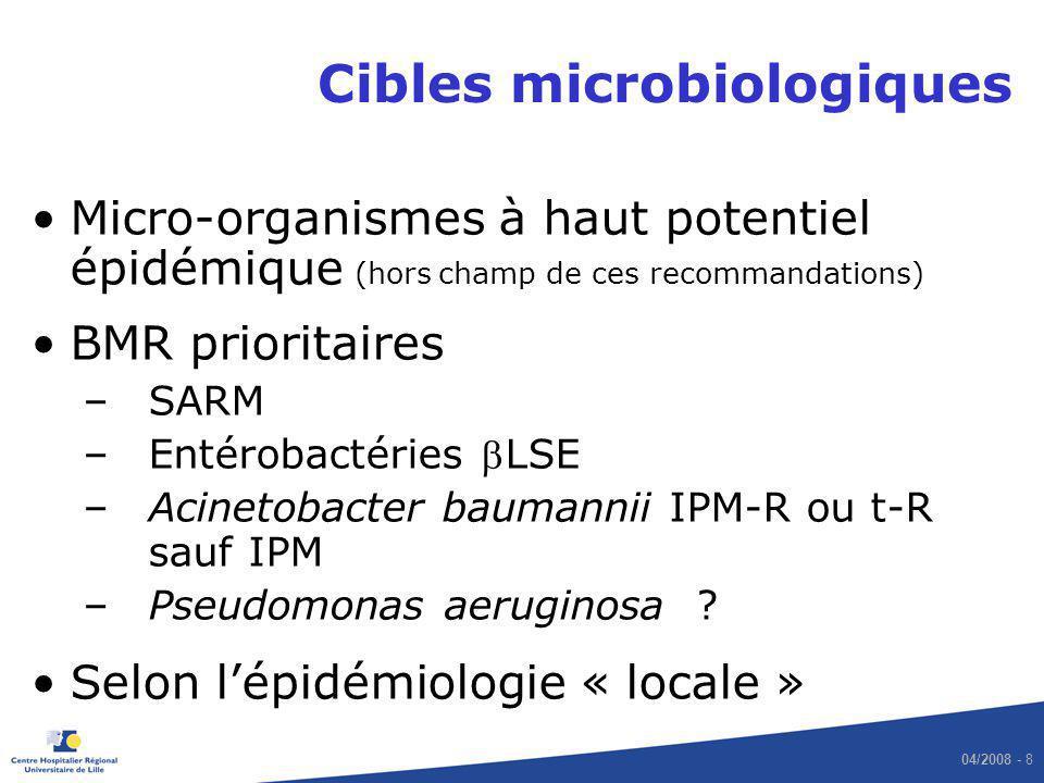 Cibles microbiologiques