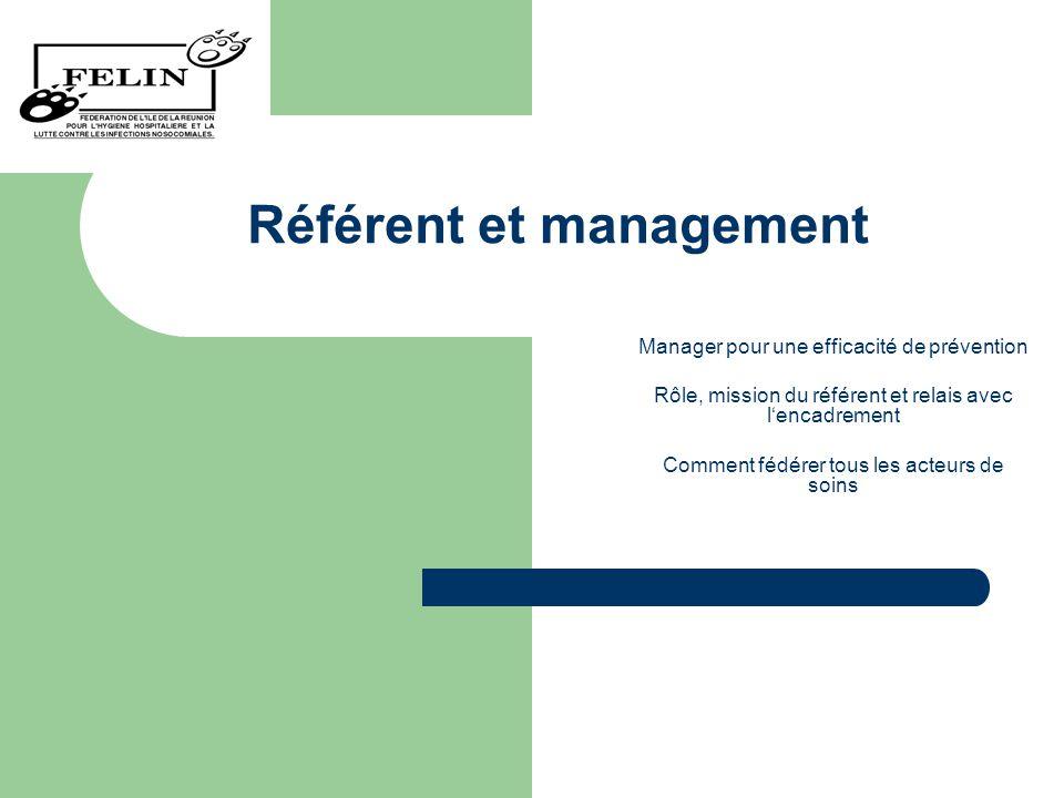 Référent et management