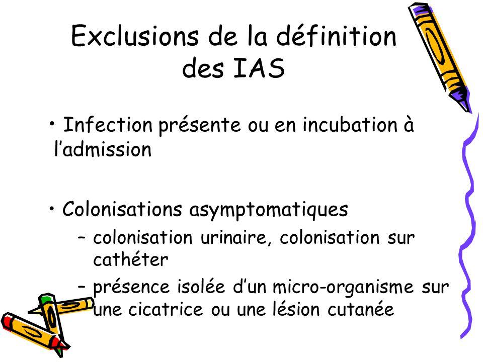 Exclusions de la définition des IAS