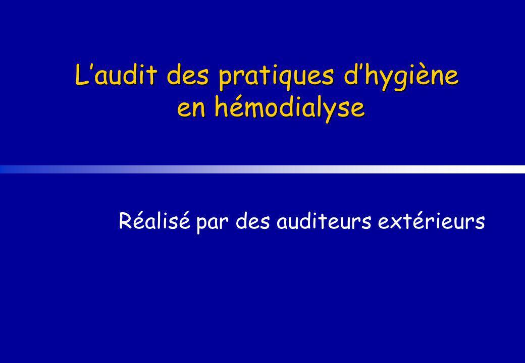 L'audit des pratiques d'hygiène en hémodialyse
