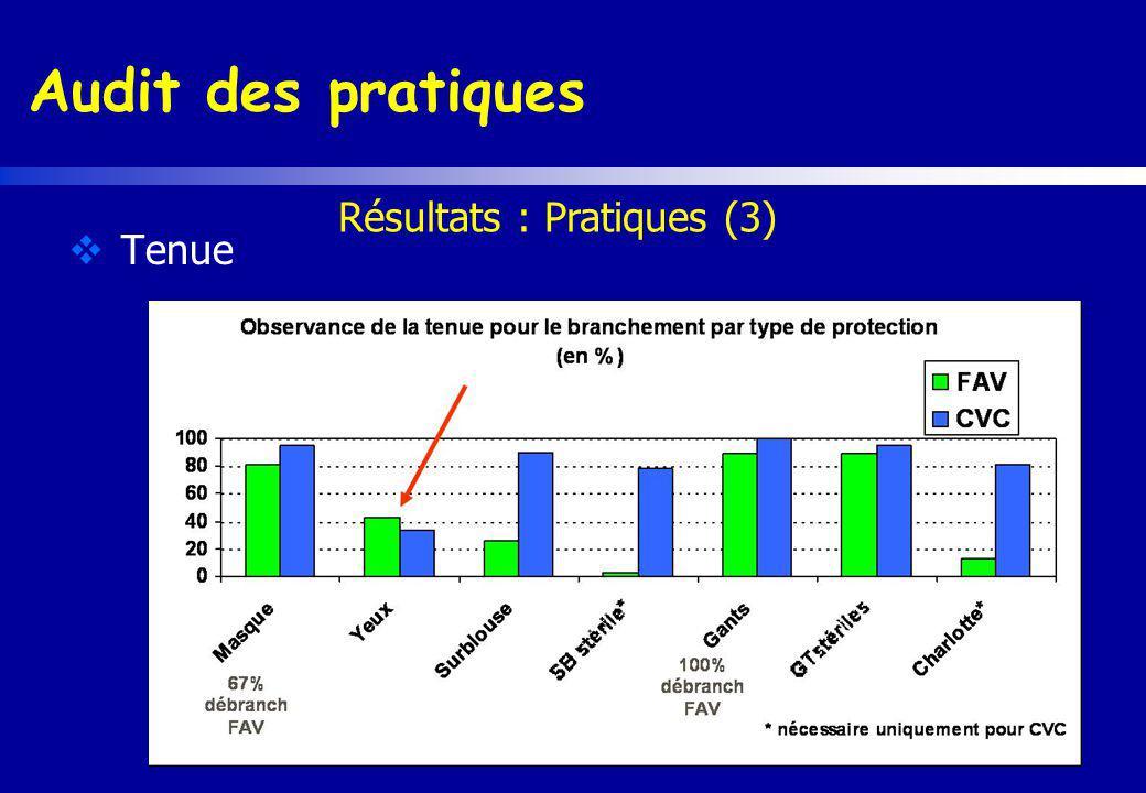 Résultats : Pratiques (3)