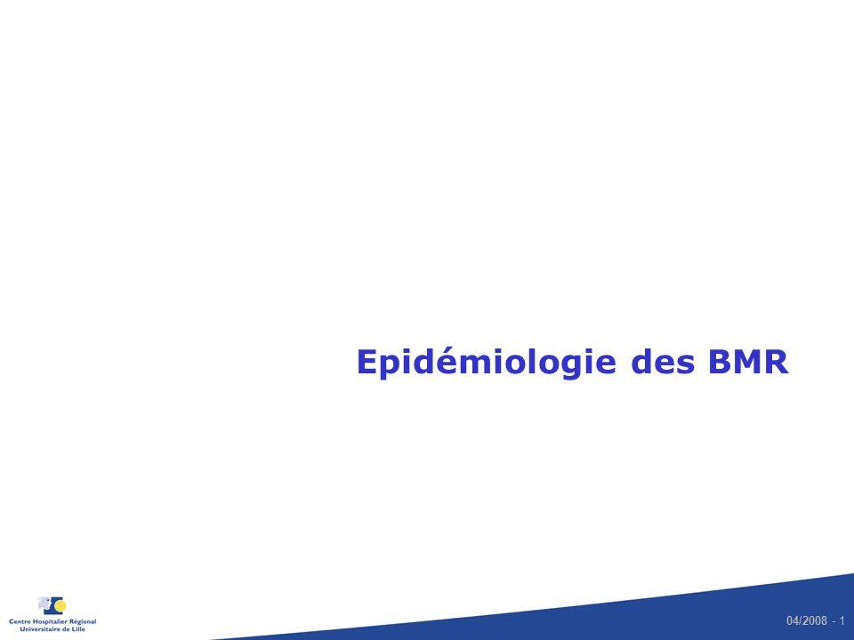 Epidémiologie des BMR