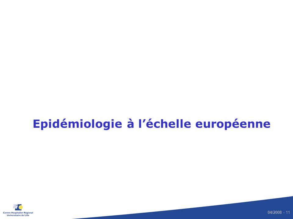 Epidémiologie à l'échelle européenne