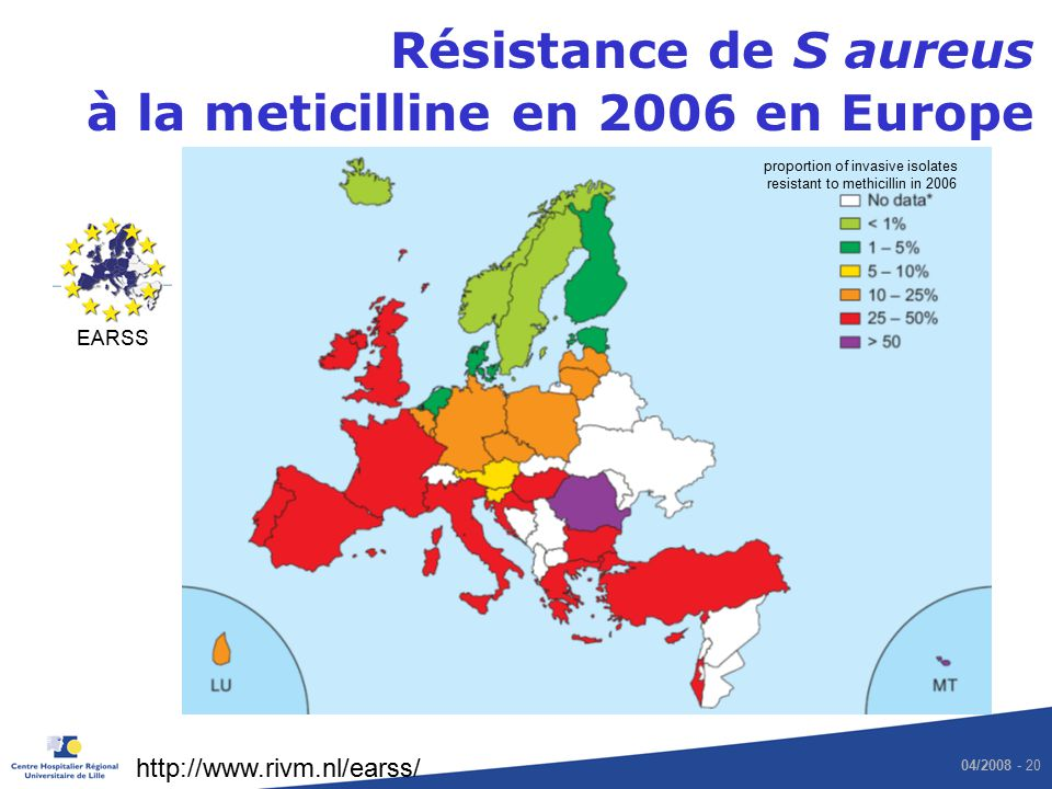 proportion of invasive isolates resistant to methicillin in 2006
