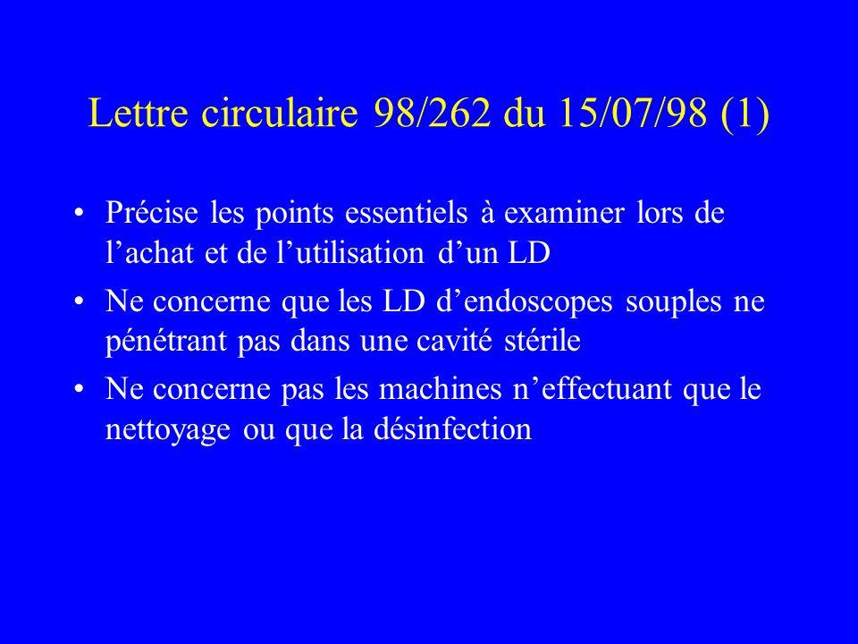 Lettre circulaire 98/262 du 15/07/98 (1)