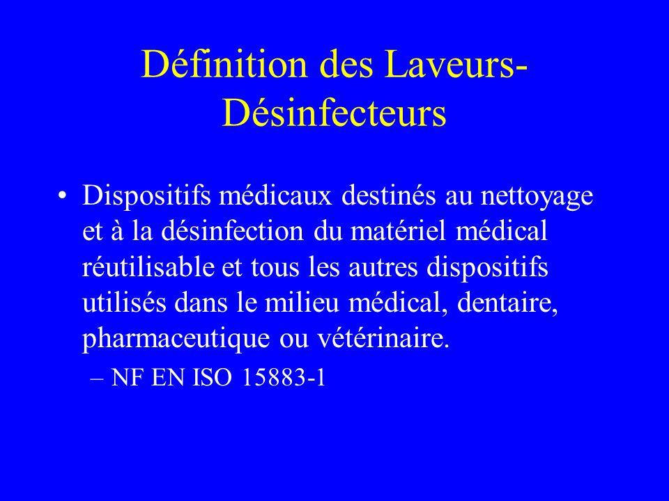 Définition des Laveurs-Désinfecteurs