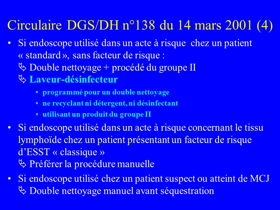 Circulaire DGS/DH n°138 du 14 mars 2001 (4)