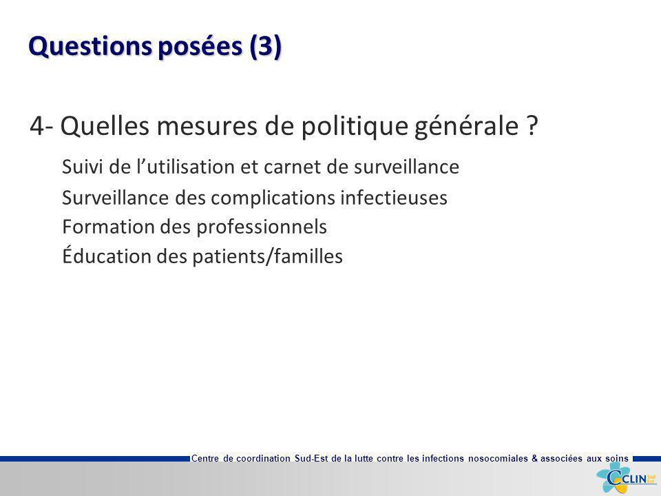 4- Quelles mesures de politique générale