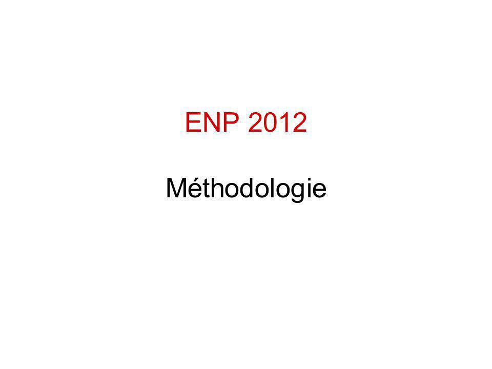 ENP 2012 Méthodologie