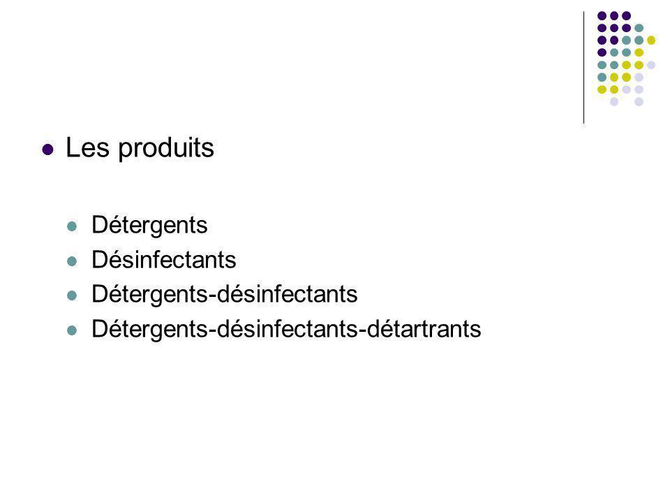 Les produits Détergents Désinfectants Détergents-désinfectants