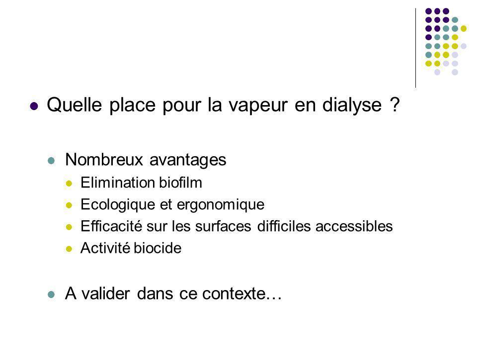 Quelle place pour la vapeur en dialyse