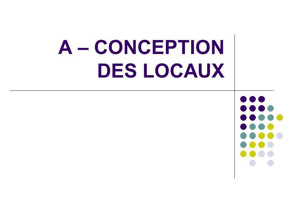 A – CONCEPTION DES LOCAUX