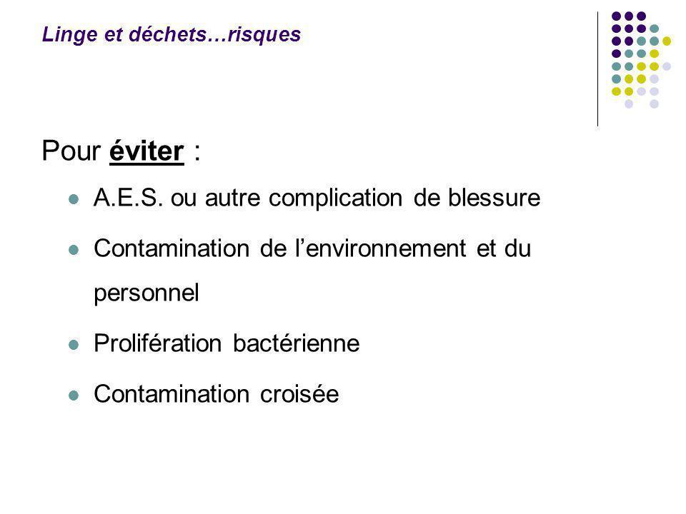 Linge et déchets…risques