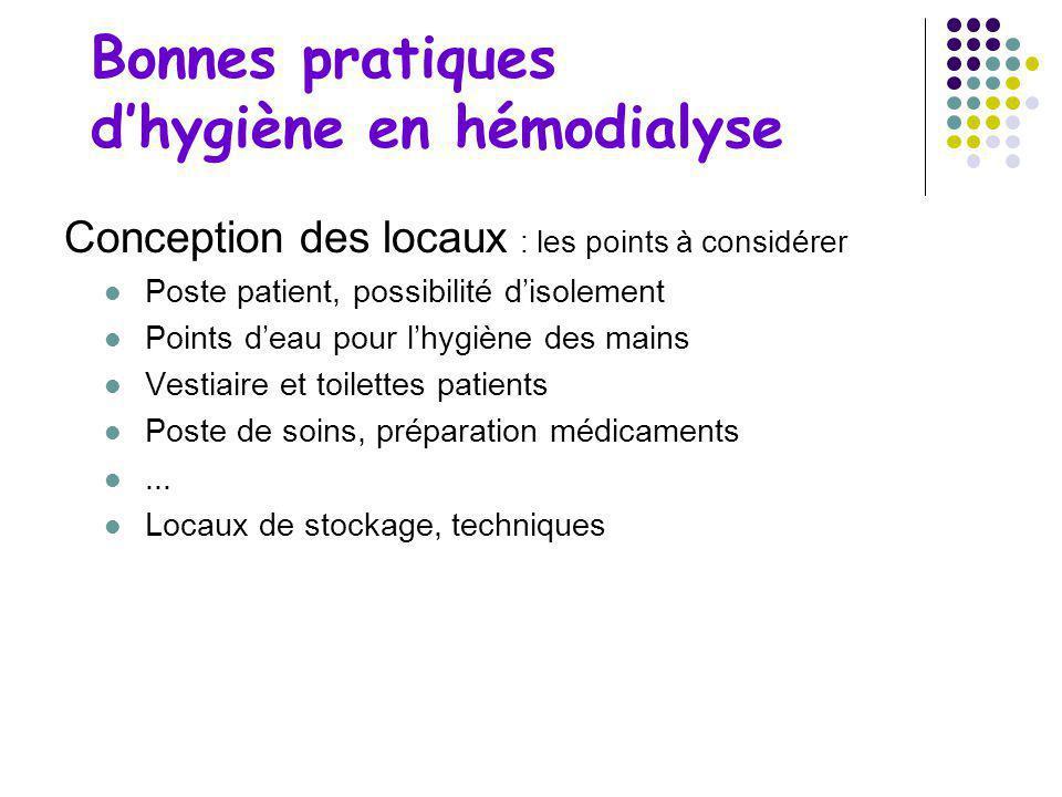 Bonnes pratiques d'hygiène en hémodialyse