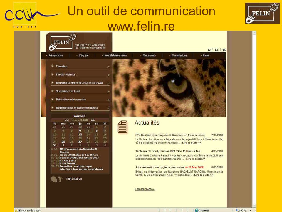 Un outil de communication www.felin.re