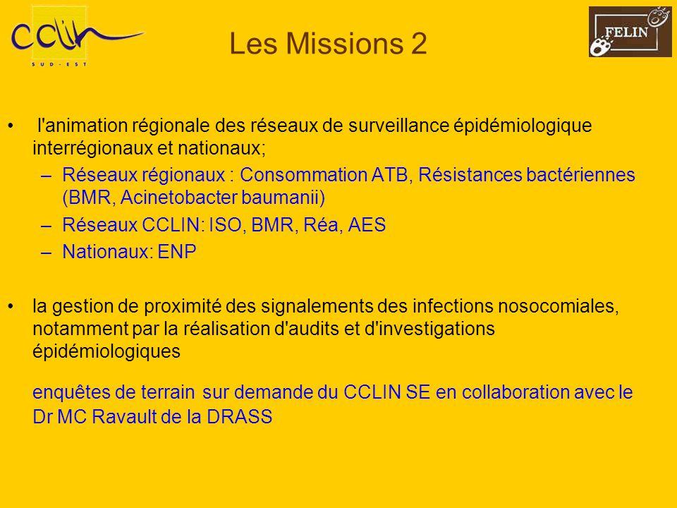 Les Missions 2 l animation régionale des réseaux de surveillance épidémiologique interrégionaux et nationaux;