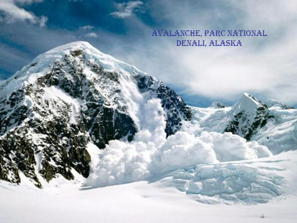 Avalanche, Parc National Denali, Alaska