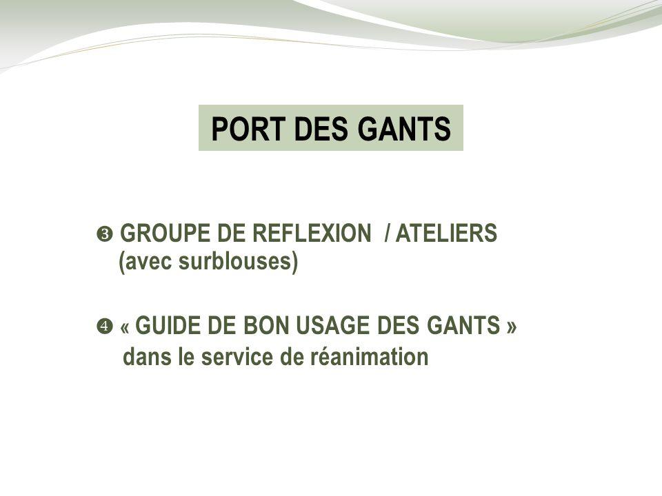 PORT DES GANTS (avec surblouses)  GROUPE DE REFLEXION / ATELIERS