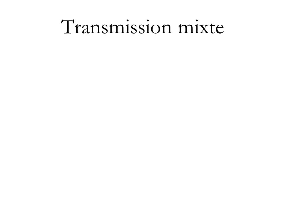 Transmission mixte