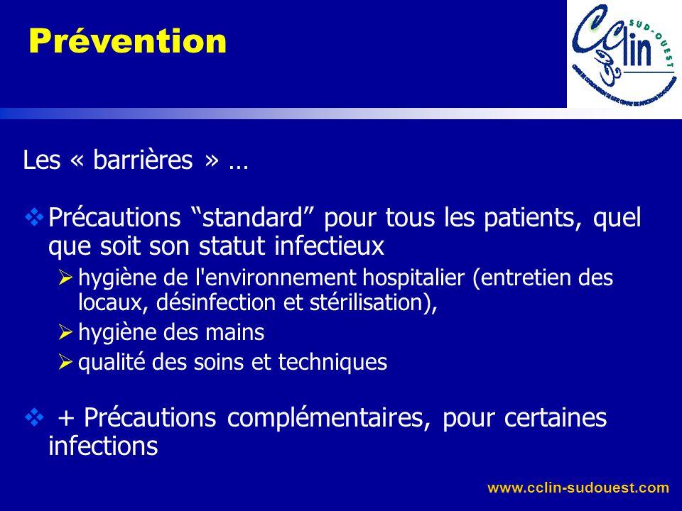 Prévention Les « barrières » …