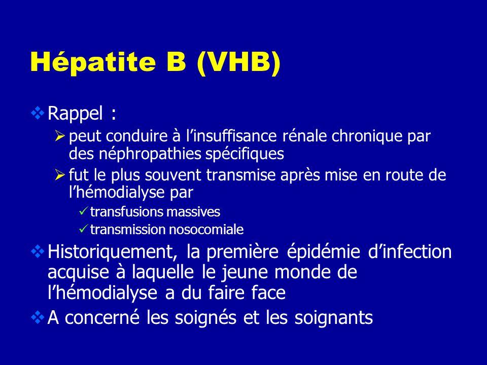 Hépatite B (VHB) Rappel :