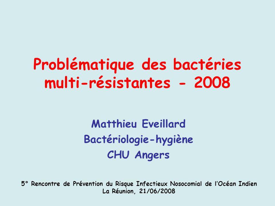 Problématique des bactéries multi-résistantes - 2008