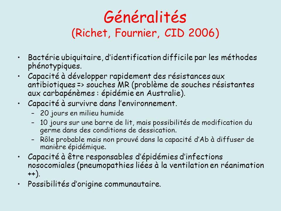 Généralités (Richet, Fournier, CID 2006)