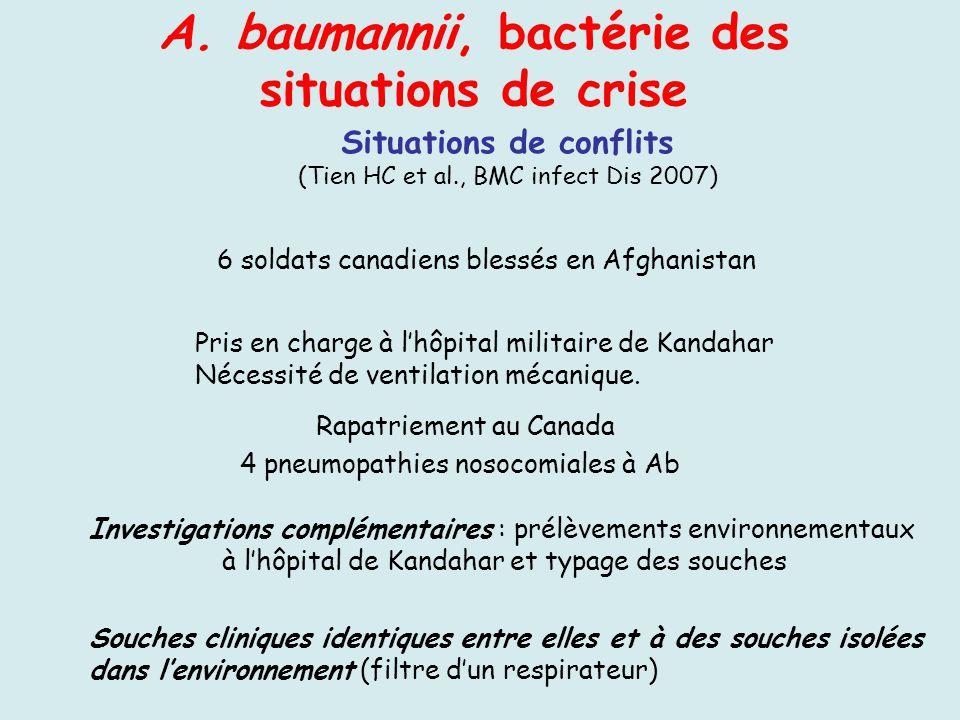 A. baumannii, bactérie des situations de crise