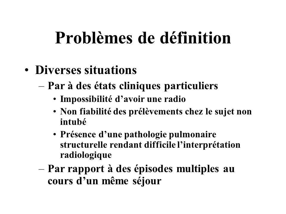 Problèmes de définition