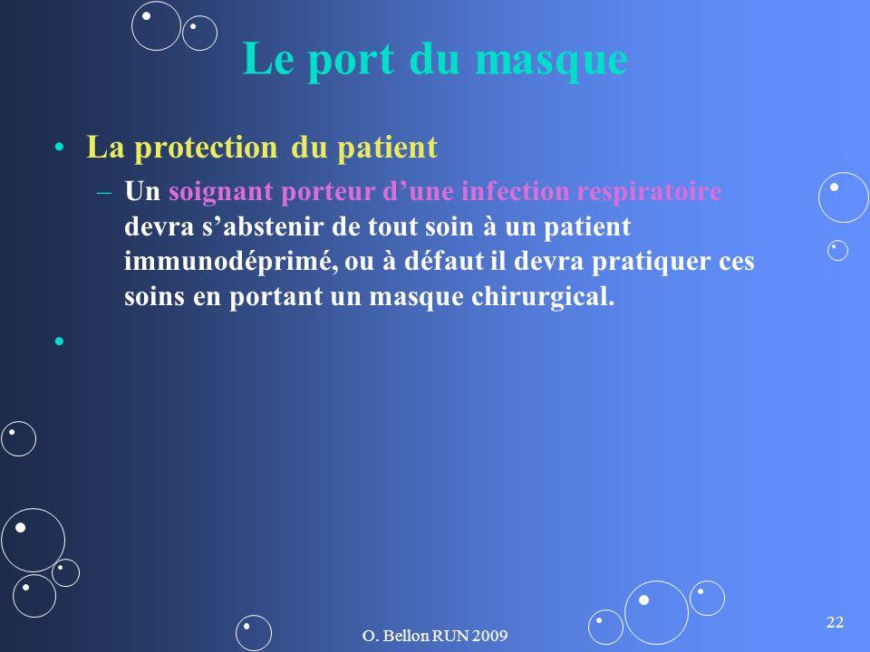 Le port du masque La protection du patient