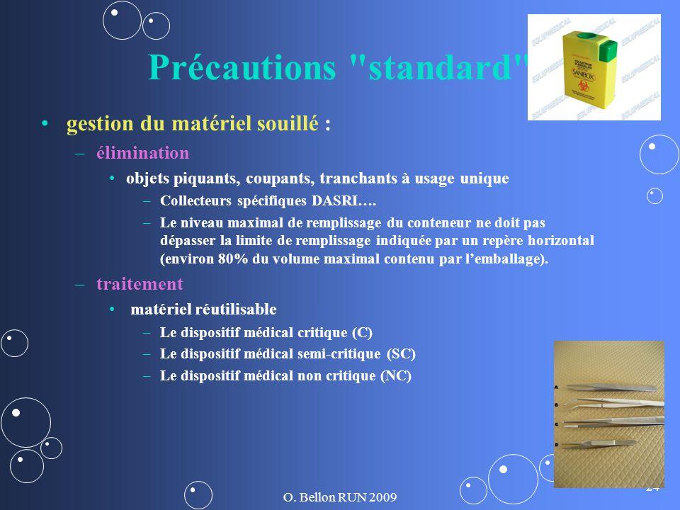 Précautions standard gestion du matériel souillé : élimination