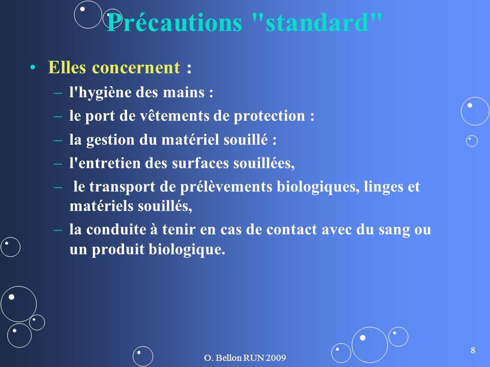 Précautions standard Elles concernent : l hygiène des mains :