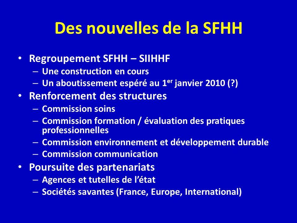 Des nouvelles de la SFHH
