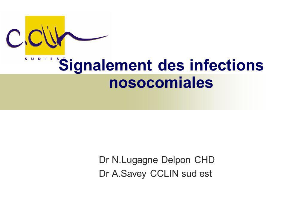 Signalement des infections nosocomiales