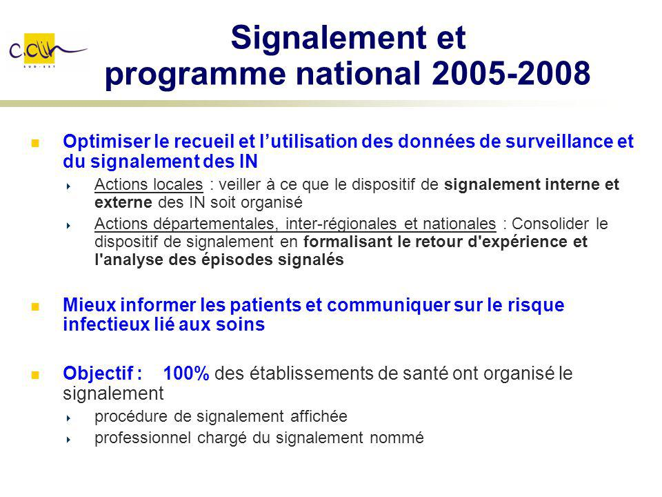 Signalement et programme national 2005-2008