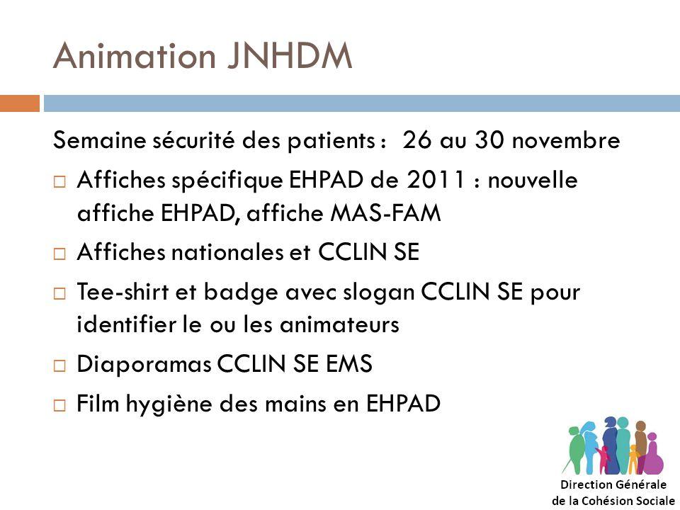 Animation JNHDM Semaine sécurité des patients : 26 au 30 novembre