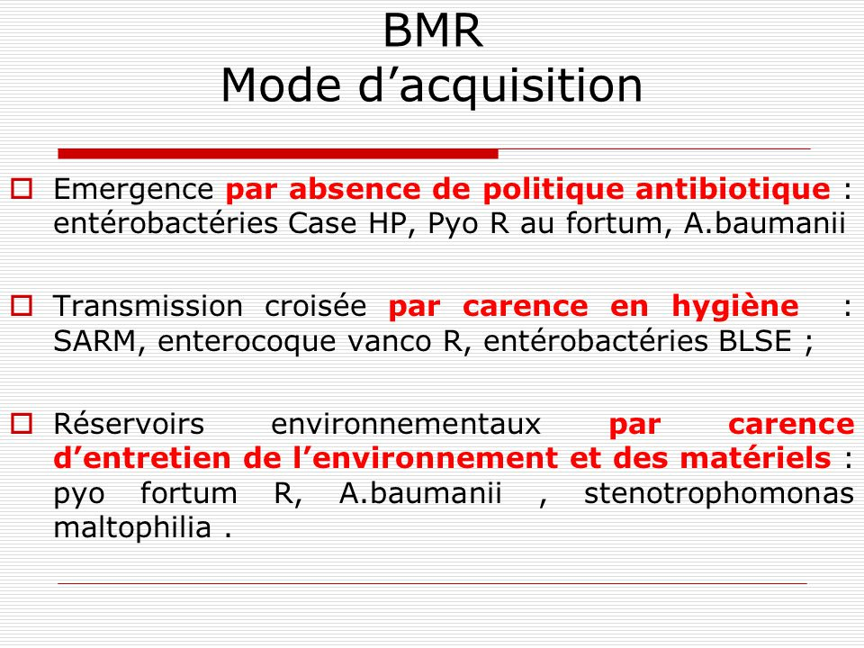 BMR Mode d'acquisition