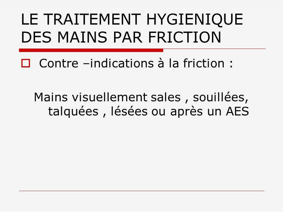 LE TRAITEMENT HYGIENIQUE DES MAINS PAR FRICTION