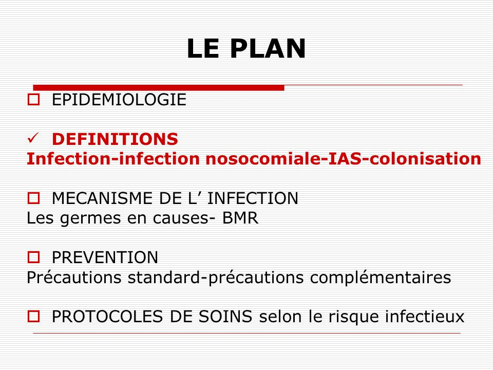 LE PLAN EPIDEMIOLOGIE DEFINITIONS
