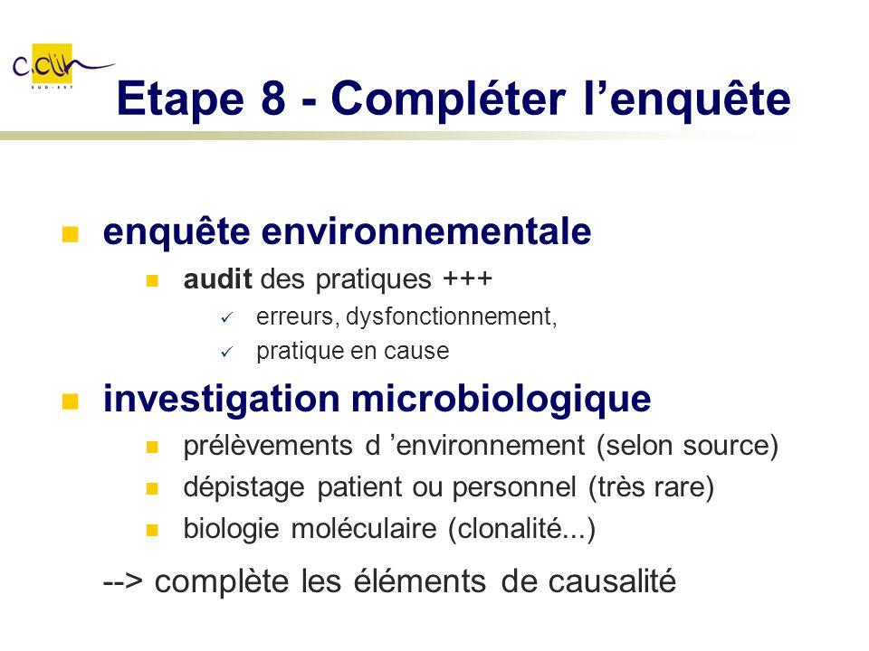 Etape 8 - Compléter l'enquête