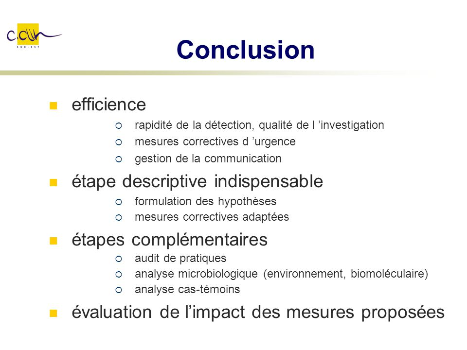 Conclusion efficience étape descriptive indispensable