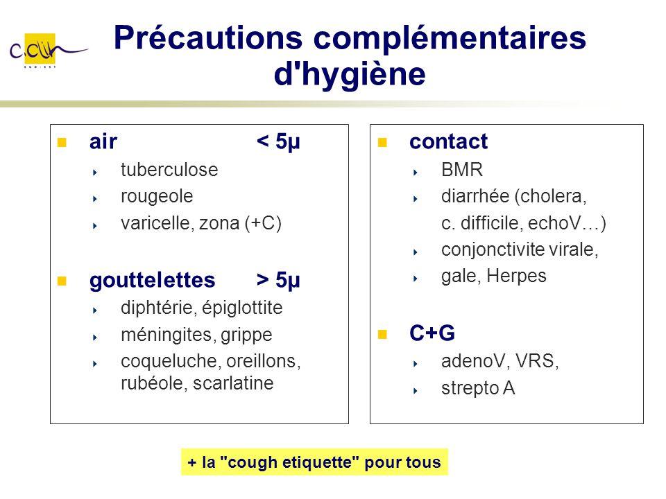 Précautions complémentaires d hygiène