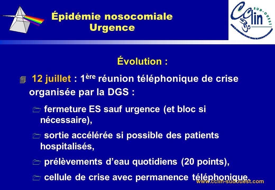 Épidémie nosocomiale Urgence