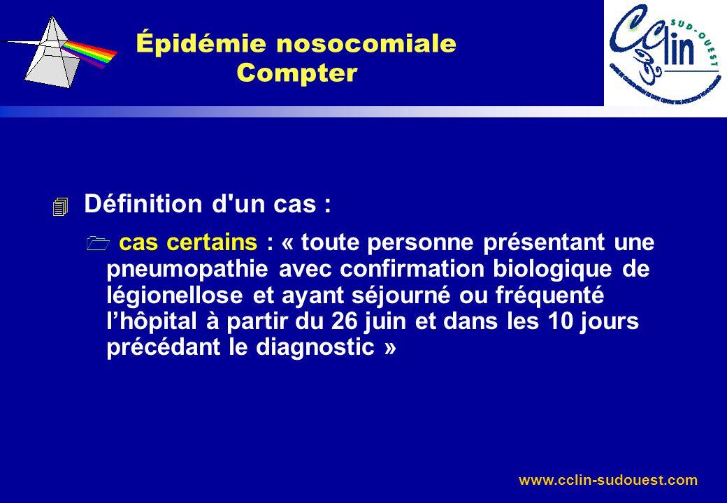 Épidémie nosocomiale Compter